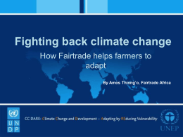 UNEP – Presentation on Fairtrade and climate change