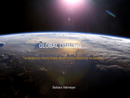 Global Dimming - WordPress.com