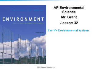 APES Lesson 32 - Earth`s Environmental Systems - science-b