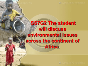 SS7G2 The student will discuss environmental issues across the