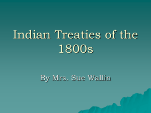 Indian Treaties of the 1800s PowerPoint