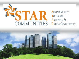 STAR Communities - National League of Cities
