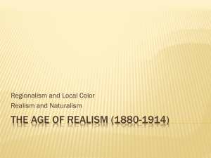 The Age of Realism (1880