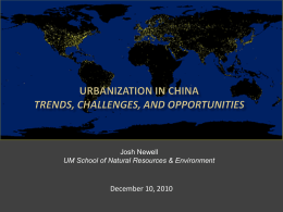 Urbanization in China trends, Challenges, and