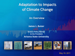 Adaption to Impacts of Climate Change