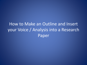 How to Insert your Voice / Analysis into a Research Paper