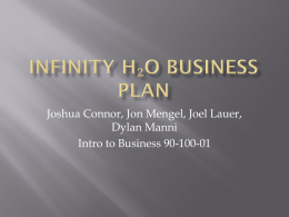 Infinity H₂O Business Plan.ppt