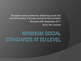 Are minimum social standards at EU level possible?