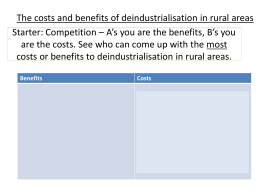 The costs and benefits of deindustrialisation in rural areas