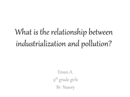 What is the relationship between industrialization and