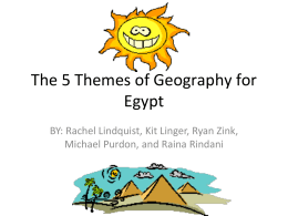 The 5 Themes of Geography for Egypt