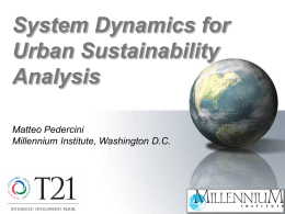 System Dynamics for Urban Sustainability Analysis, Mr