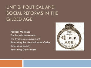 Political and Social Reforms in the Gilded Age