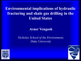 Environmental implications of hydraulic fracturing and shale gas
