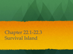 Chapter 22.1-22.3 Survival Island