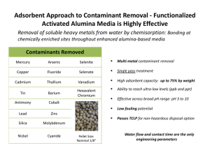 Adsorbent Approach to Contaminant Removal