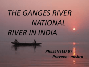 the ganges river national river in india