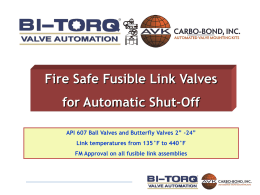 Specialty Safety Products: Fire Safe Valves - BI