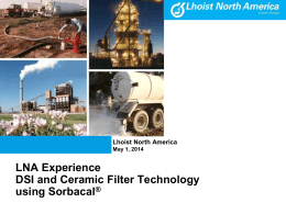Lhoist Has Lots of Ceramic Filter Hot Gas Experience