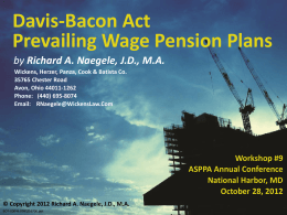 Prevailing Wage Pension Plans - Wickens, Herzer, Panza, Cook