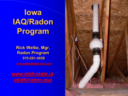 History of Indoor Radon in Iowa