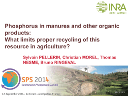 Phosphorus in manures and other organic products