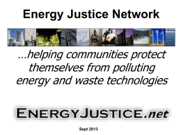 Powerpoint format - Energy Justice Network