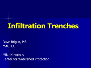 Infiltration Trenches - MPC – Natural Resources