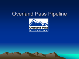 Williams Companies, Inc. – Overland Pass Pipeline