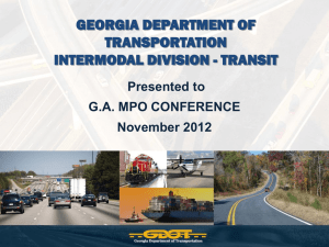 Georgia Department of Transportation Intermodal Division