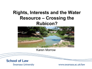Morrow - Rights, Interests and the Water Resource