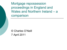 Mortgage repossession proceedings in England and Wales and