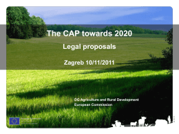 Commission Communication `The CAP towards 2020`