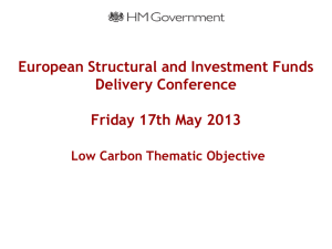 Low Carbon Thematic Objective