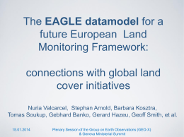 The EAGLE datamodel for a future European Land Monitoring
