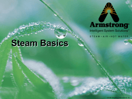 Steam Basics - Armstrong International, Inc.