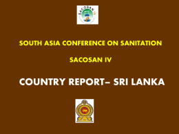 south asia conference on sanitation sacosan iv