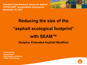 "Imants Deme – Reducing the size of the ""asphalt ecological footprint"""
