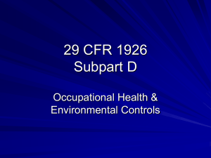 29 CFR 1926 Subpart D - Innovation for Construction and
