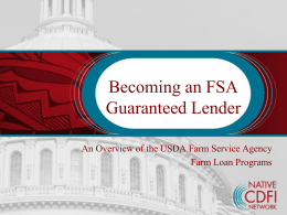 FSA Guaranteed Loan Program