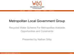 Recycled Water Network Report to MLGG 8 September 2010