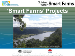 `Smart Farms` Projects - NSW Department of Primary Industries