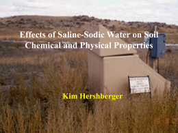 Effects of Saline-Sodic Water Managment on Soil Chemical Properties