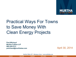 Practical Ways For Towns to Save Money With