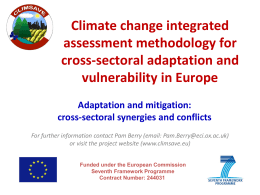 Adaptation/mitigation synergies and trade-offs.