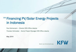 Special Q&A Session on Solar PV Financing by