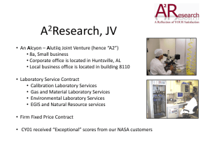 the A2Research presentation. - Mississippi Enterprise for Technology
