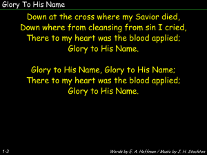 Glory To His Name