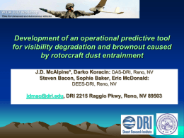 Presentation - Desert Research Institute