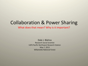 Collaboration and `informal power sharing`